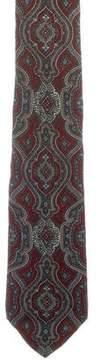Fendi Silk Paisley Print Tie