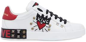 Dolce & Gabbana King Of Love Embellished Leather Sneaker