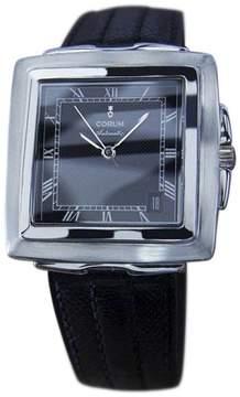 Corum Quadratus Automatic Stainless Steel & Leather 33mm Mens Watch c2000