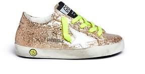 Golden Goose Deluxe Brand 'Superstar' glitter coated calfskin leather kids sneakers