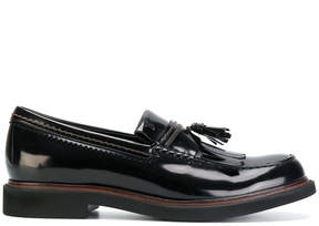 Tod's patent tassel loafers
