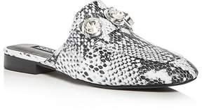 Senso Rio Snake Embossed Embellished Loafer Mules
