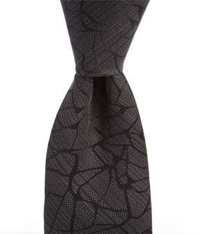 Murano Big & Tall Cracked Solid Traditional Silk Tie
