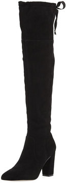 Adrienne Vittadini Nilson Studded Over-The-Knee Boot, Black