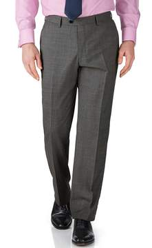 Charles Tyrwhitt Grey Slim Fit End-On-End Business Suit Wool Pants Size W40 L32
