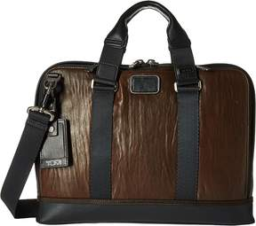 Tumi Alpha Bravo - Leather Andrews Slim Brief Briefcase Bags