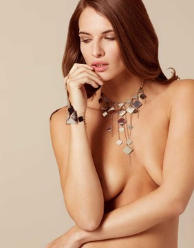 Agent Provocateur Adora Necklace Silver And Rose Gold