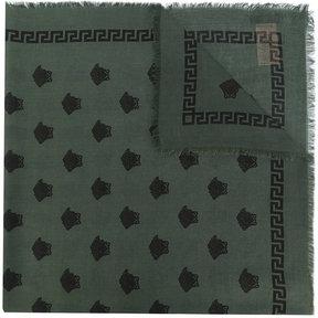 Versace medusa printed scarf