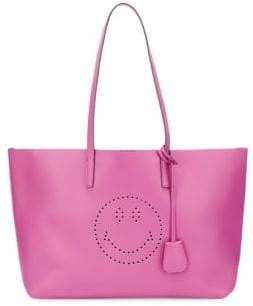 Anya Hindmarch Smiley Leather Tote