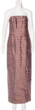 Carmen Marc Valvo Tiered Silk Dress