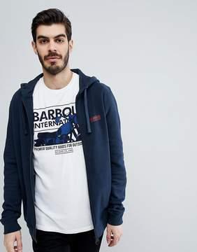 Barbour International Essential Hoodie in Navy