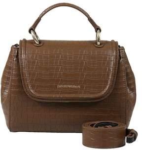 Emporio Armani Y3a088 Yh25a 88556 Sand Satchel Handbag.