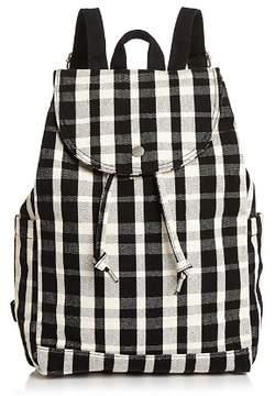 Baggu Medium Plaid Canvas Backpack