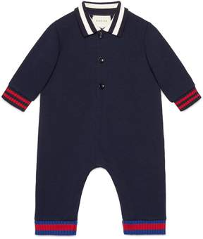 Baby cotton sleepsuit with Web
