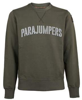 Parajumpers Men's Pmflecf01759 Green Cotton Sweatshirt.