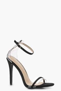 boohoo Clear Strap Detail Heels
