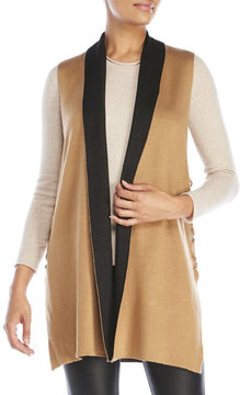 August Silk Lace-Up Sides Knit Duster