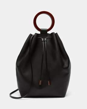 Theory Drawstring Bag With Wood Hoop
