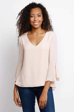 Ark & Co V-Neck Sun Bell Sleeve Blouse