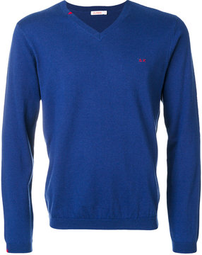 Sun 68 v-neck jumper