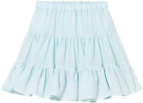 Lili Gaufrette Aqua Tiered Skirt