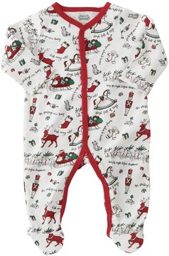 Mud Pie Baby Boys Newborn-9 Months Very Merry Christmas Footed Coverall