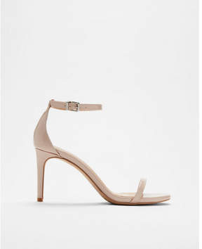 Express skinny strap low heeled sandals