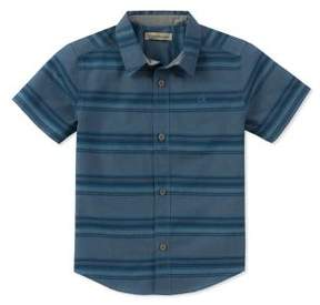 Calvin Klein Jeans Boy's Horizontal Stripe Button-Down Shirt