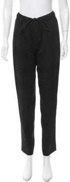 Calvin Klein Collection Plaid Drawstring Pants