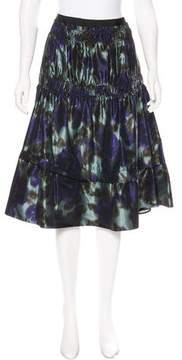 Derek Lam Silk Printed Skirt