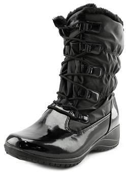 Khombu Audrey Women Round Toe Patent Leather Black Winter Boot.