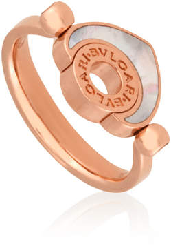Bvlgari Cuore 18K Rose Gold Mother of Pearl Ring - Size 53