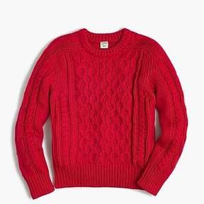 J.Crew Kids' cable-knit crewneck sweater