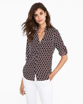 Express Slim Fit Quarterfoil Portofino Shirt