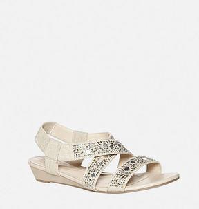 Avenue Harmony Studded Slingback Wedge Sandal