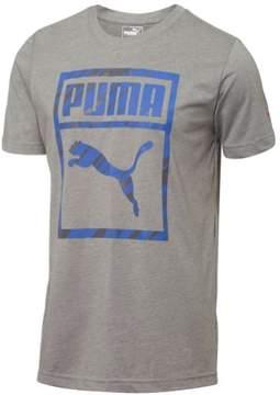 Puma Mens Boxed Graphic T-Shirt Grey S