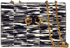 Tory Burch GEMINI LINK SNAKE MEDIUM CHAIN SHOULDER BAG - NAVY SPACE DYE - STYLE