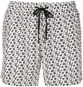 fe-fe pirate print swim shorts