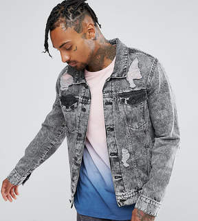 Co Brooklyn Supply Brooklyn Supply Ripped Denim Jacket Acid Wash