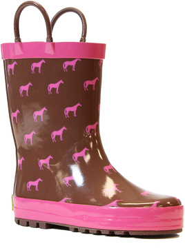 Western Chief Brown Tiny Horses Rain Boot