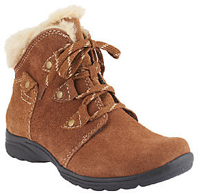 Earth As Is Origins Water Resistant Suede Ankle Boots - Copper