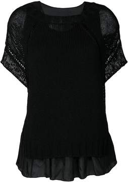 P.A.R.O.S.H. shortsleeved knitted top