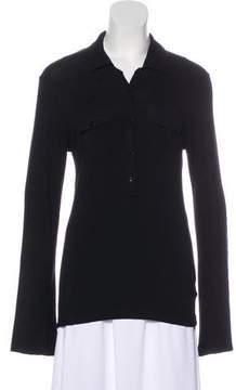 Melissa Odabash Long Sleeve Collar Top