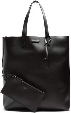 Saint Laurent Logo-plaque leather tote
