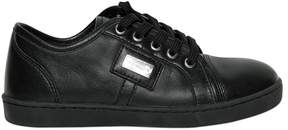 Dolce & Gabbana Nappa Leather Sneakers W/ Logo Detail