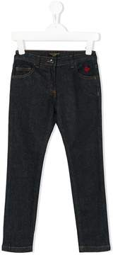 Dolce & Gabbana embroidered ladybug jeans
