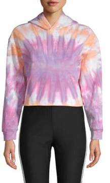 Lea & Viola Tie-Dyed Cotton Cropped Hoodie