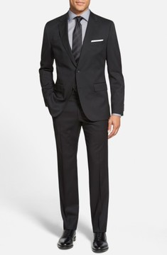 BOSS Men's Johnstons/lenon Classic Fit Wool Suit