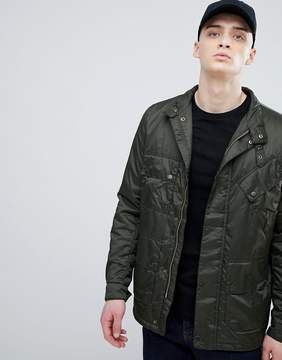 Barbour International Quilted Jacket in Green