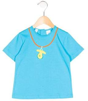 Agatha Ruiz De La Prada Girls' Embroidered Short Sleeve Top